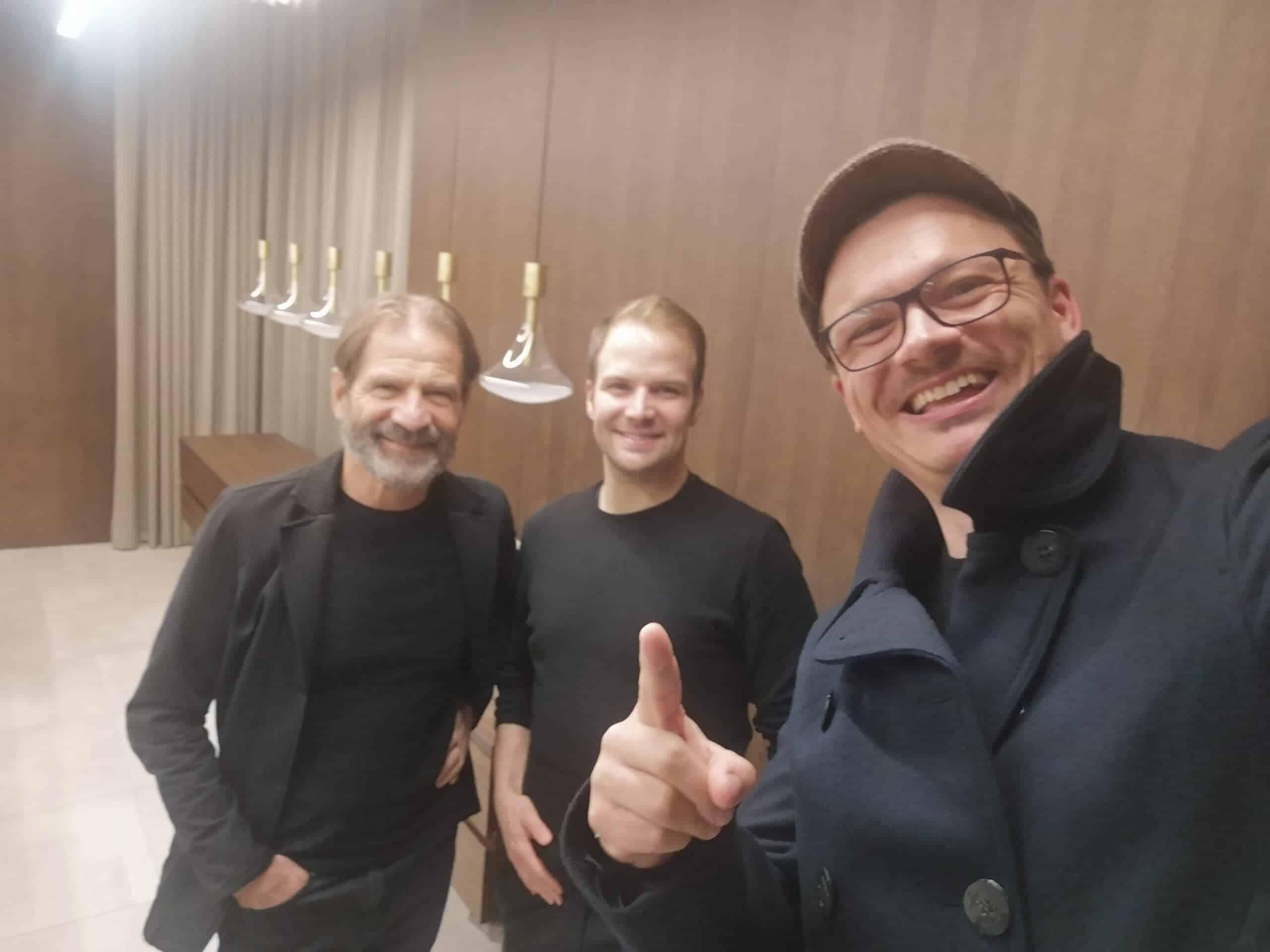 Hermann und Thomas Neuburger mit Wilhelm Geiger von B2P