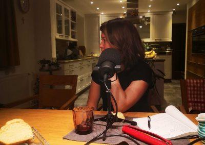 Bianca Blasl beim Podcast