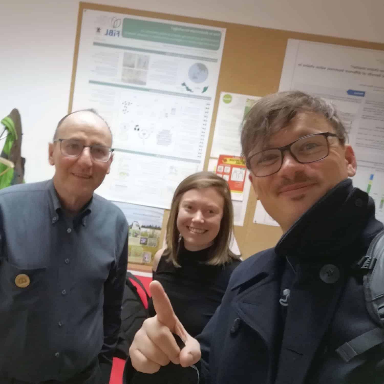 Selfie mit Urs Niggli mi FiBL mit Bianca Blasl und Wilhelm Geiger