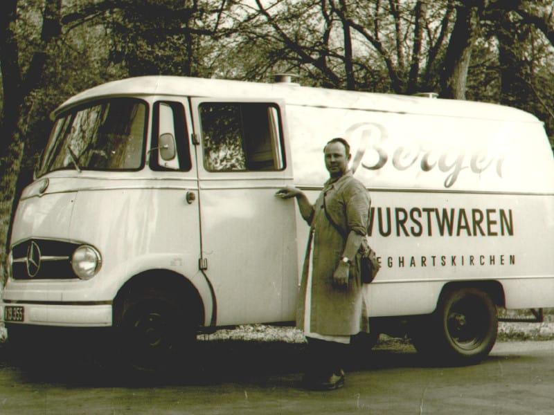der erste Berger LKW von Berger Schinken