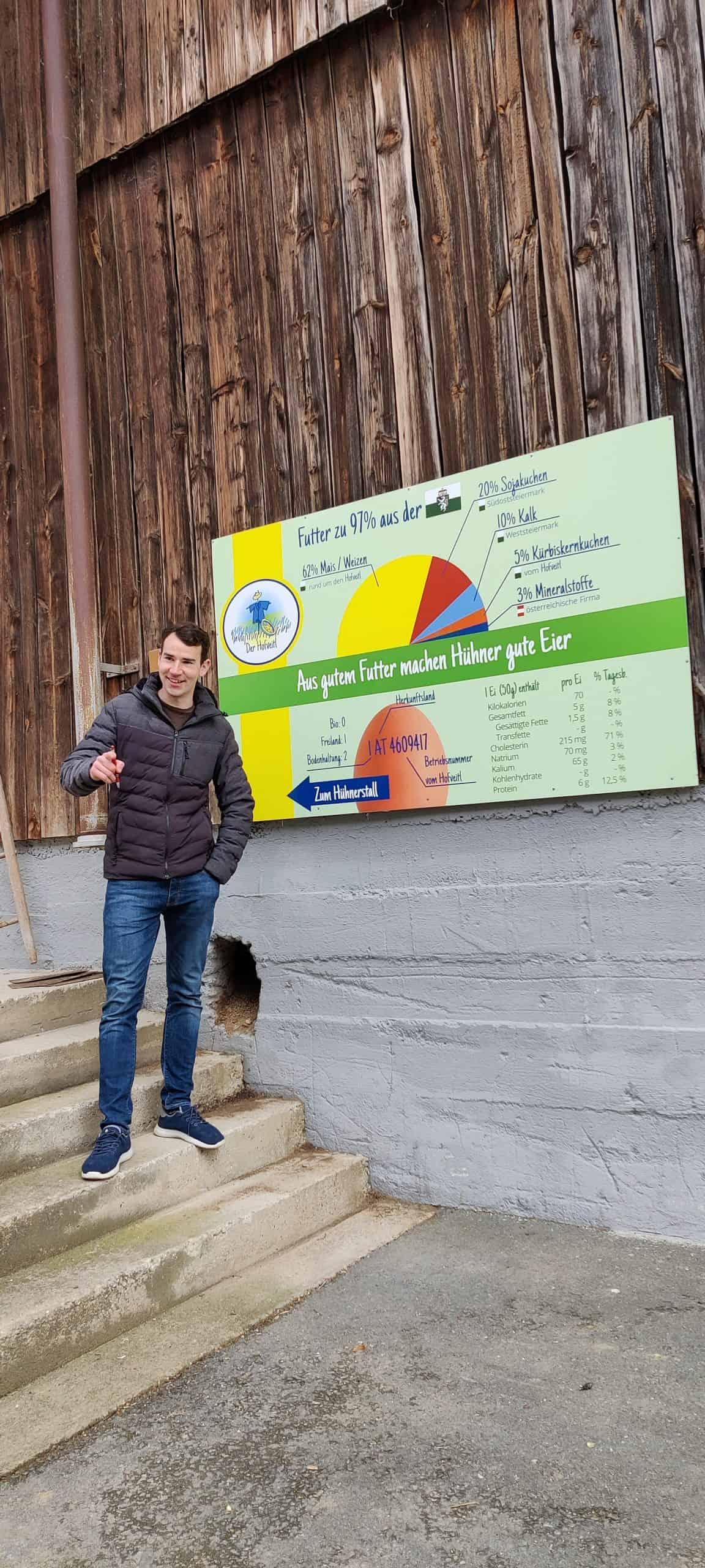 Hans-Peter Schlegl vor einer seiner Bauer-Point-Folien :-)