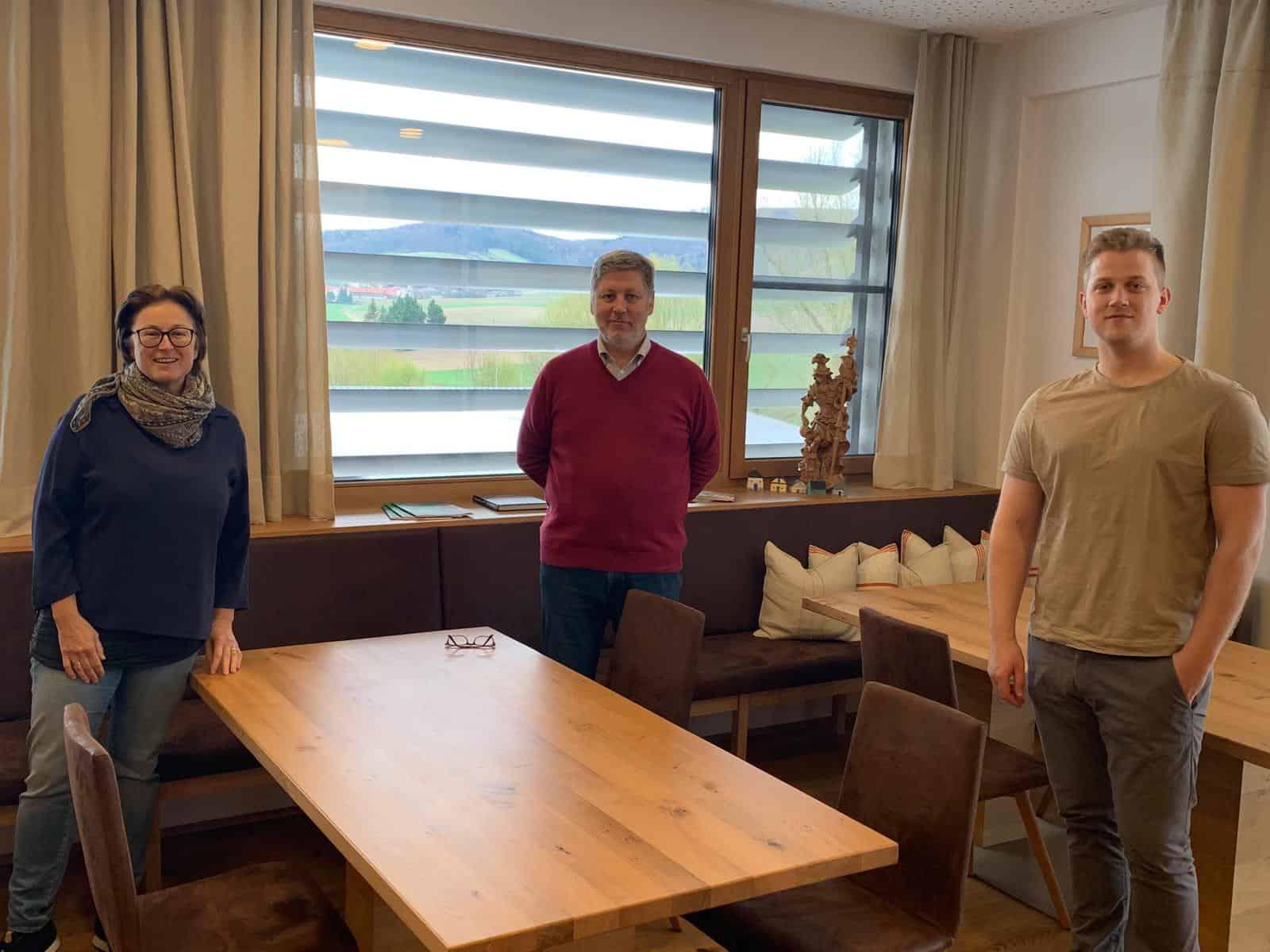 Selfie Bergers vlnr Gabi, Rudolf und Thomas