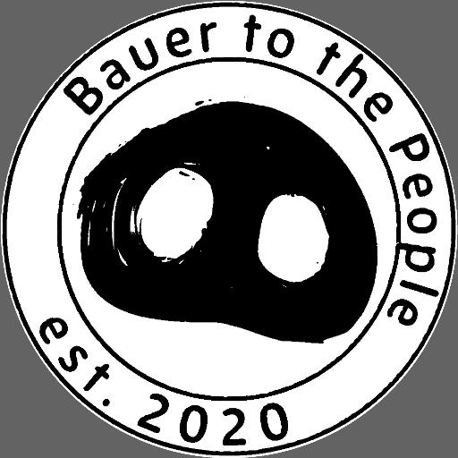 Logo von BauertothePeople - Schweineschnauze mit dem Schriftzug von BauertothePeople